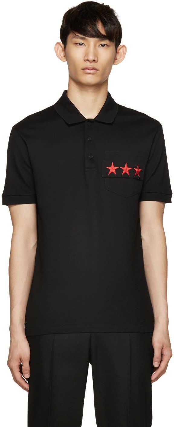 Givenchy Black Star Pocket Polo