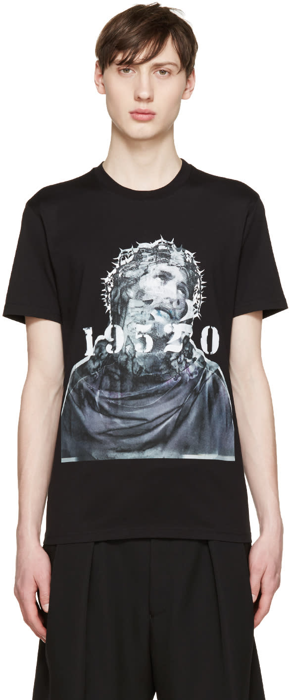Givenchy Black Jesus and Numbers T-shirt