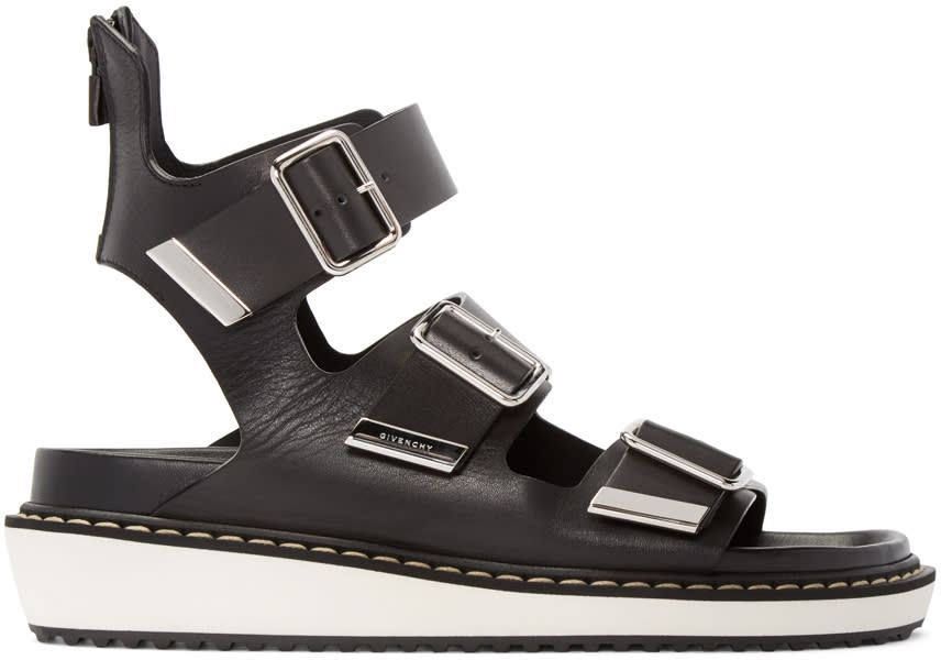 Givenchy Black Multi-strap Sandals