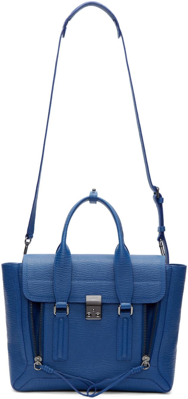 3.1 Phillip Lim Blue Leather Medium Pashli Satchel