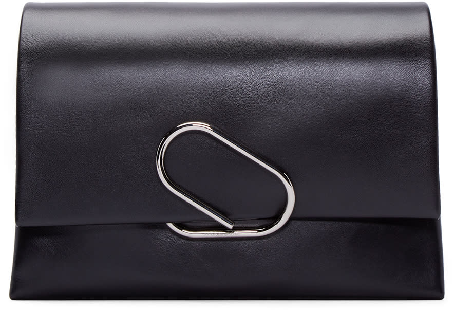 3.1 Phillip Lim Black Medium Flap Alix Clutch at ssense.com men and women fashion