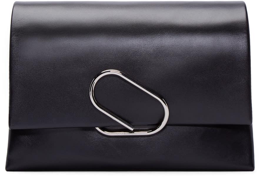 3.1 Phillip Lim Black Medium Flap Alix Clutch at ssense.com men and women fashion