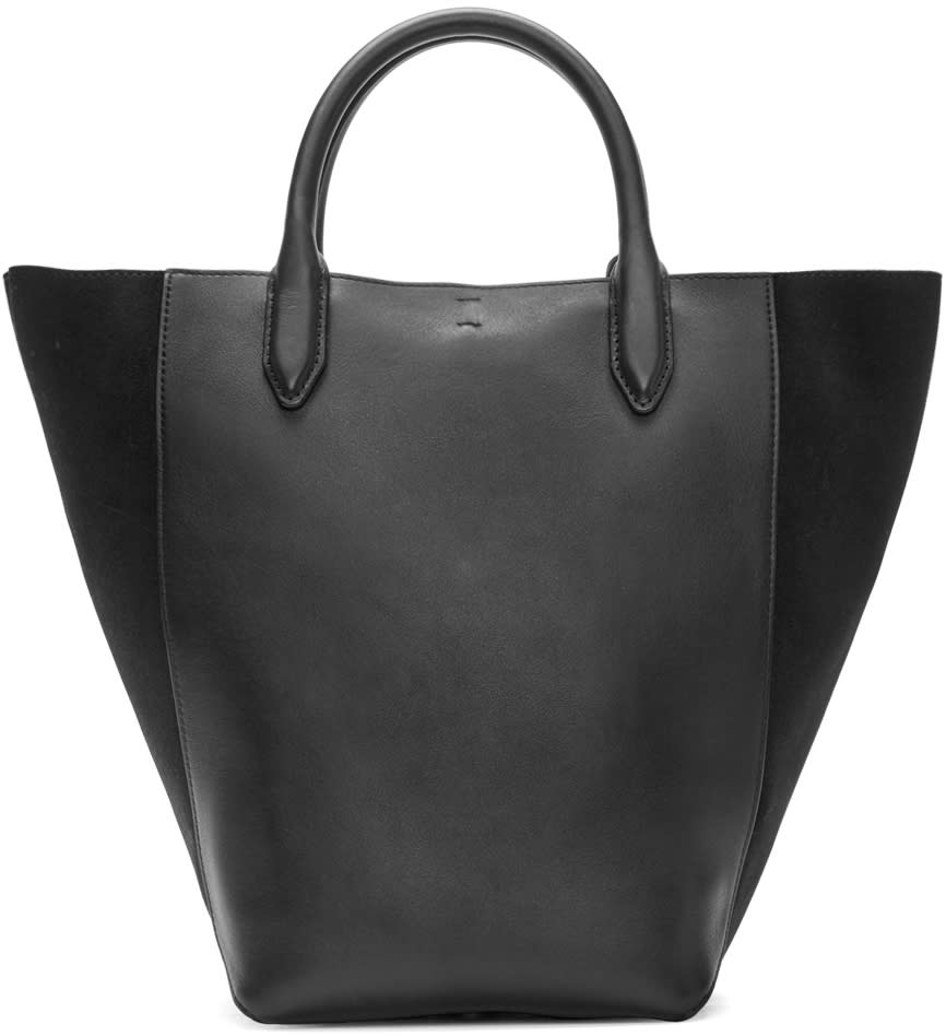 3.1 Phillip Lim Black Leather and Suede Small Bianca Tote