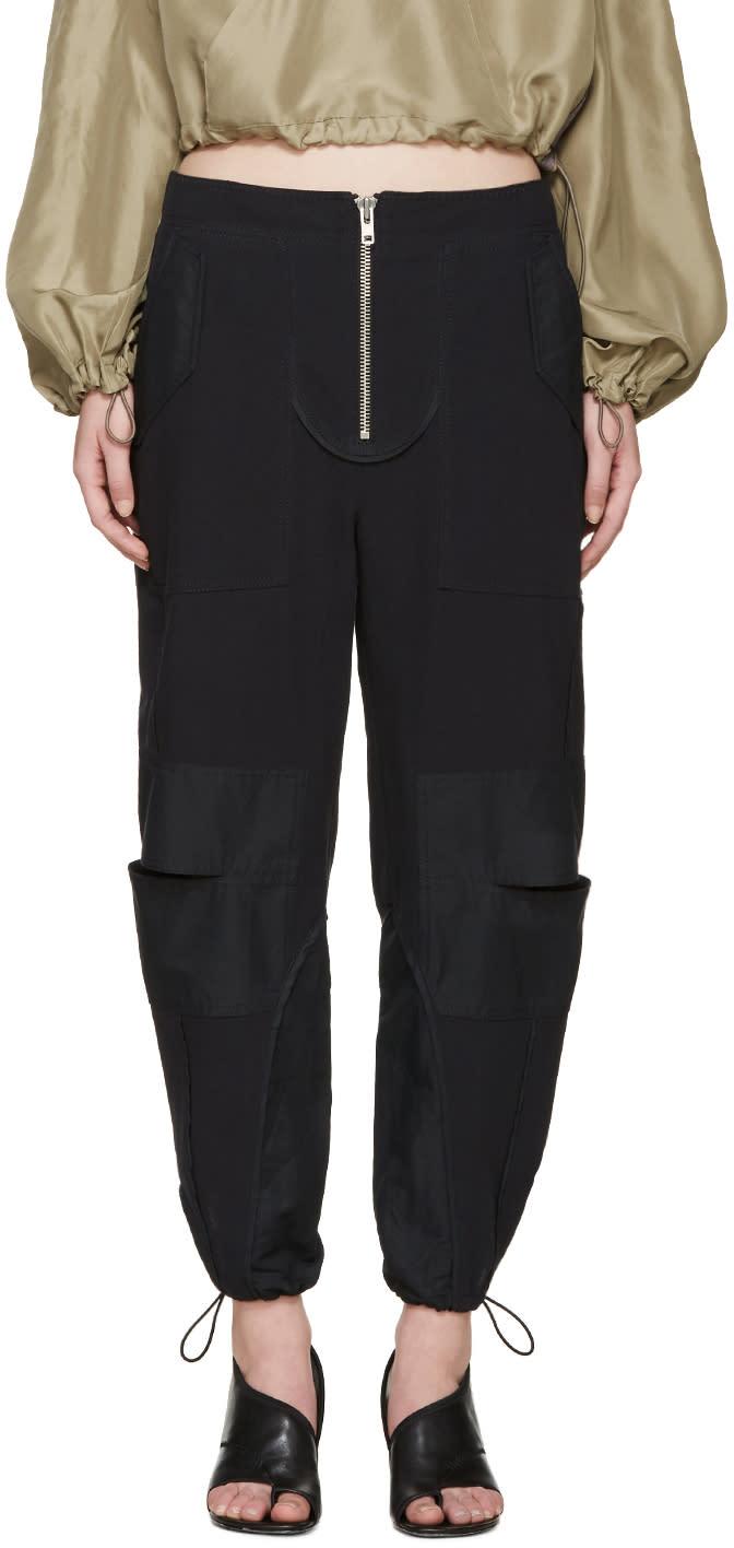 3.1 Phillip Lim Navy Cut-out Cargo Pants at ssense.com men and women fashion