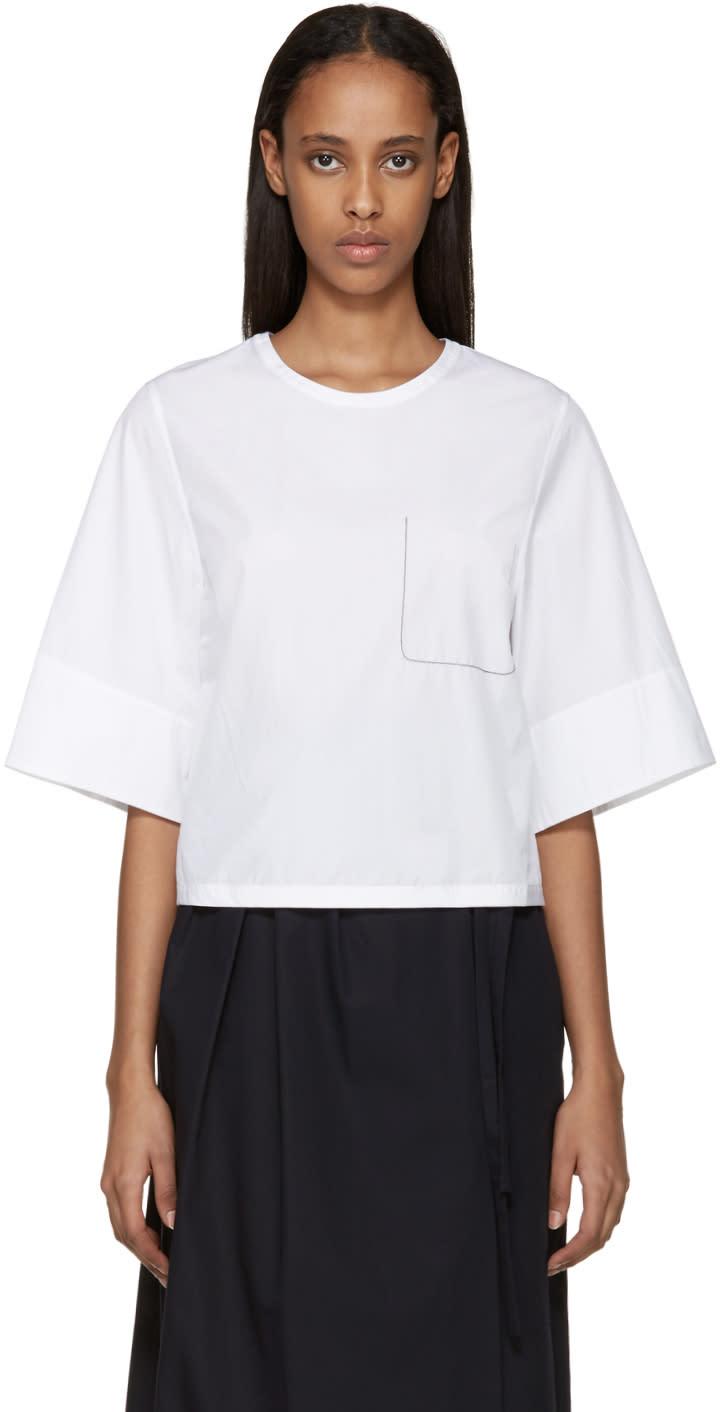 3.1 Phillip Lim White Ghost Pocket Top at ssense.com men and women fashion