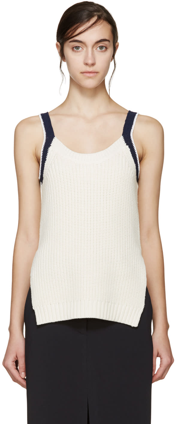3.1 Phillip Lim Ivory Knit Tank Top