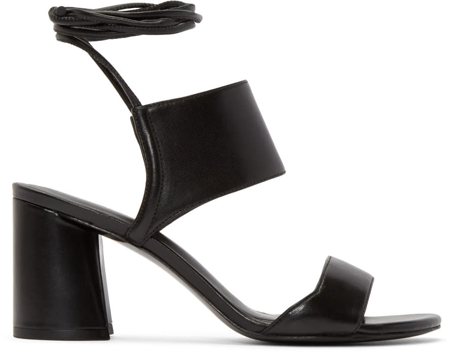 3.1 Phillip Lim Black Lace-up Drum Sandals at ssense.com men and women fashion