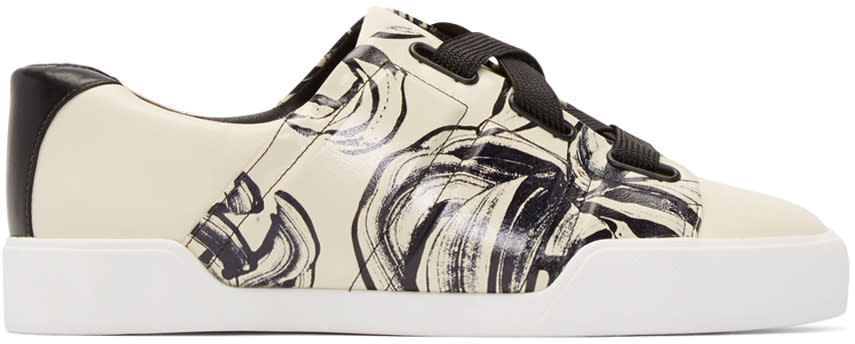 3.1 Phillip Lim Off-white Leather Morgan Sneakers at ssense.com men and women fashion