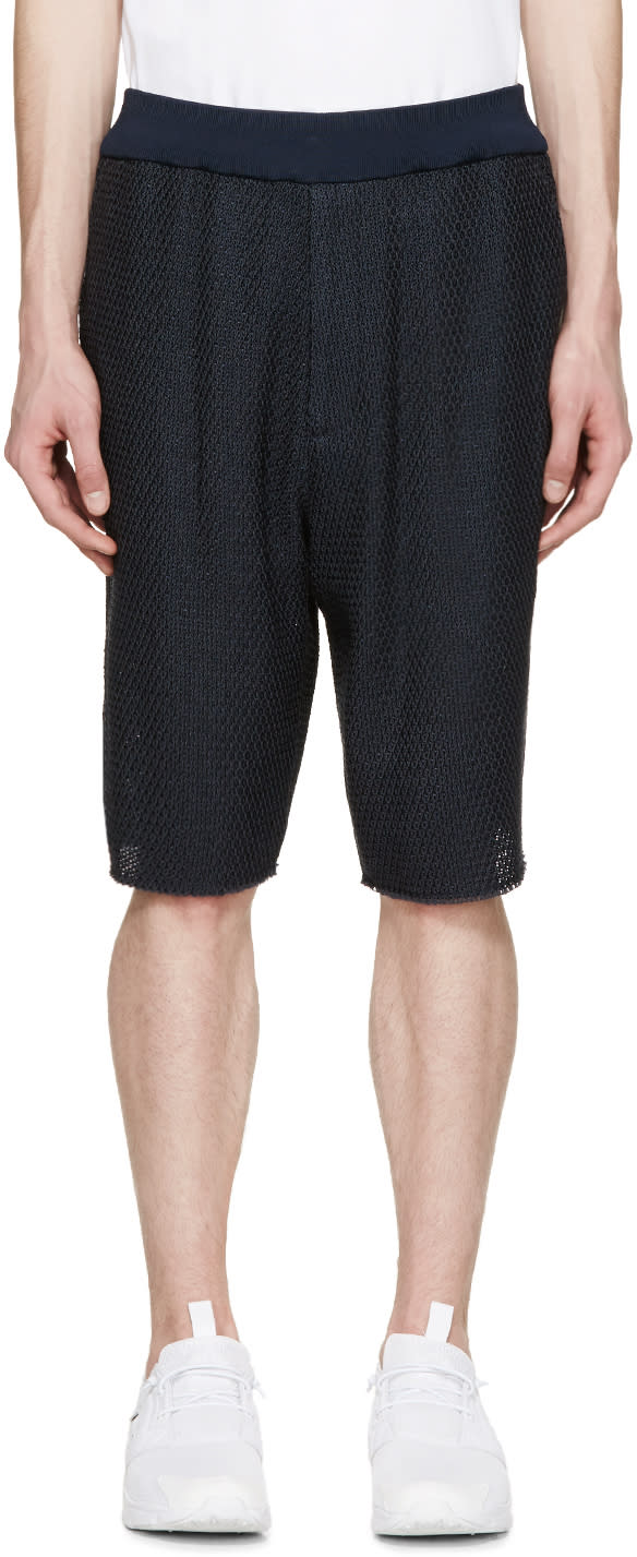 3.1 Phillip Lim Navy Knit Shorts
