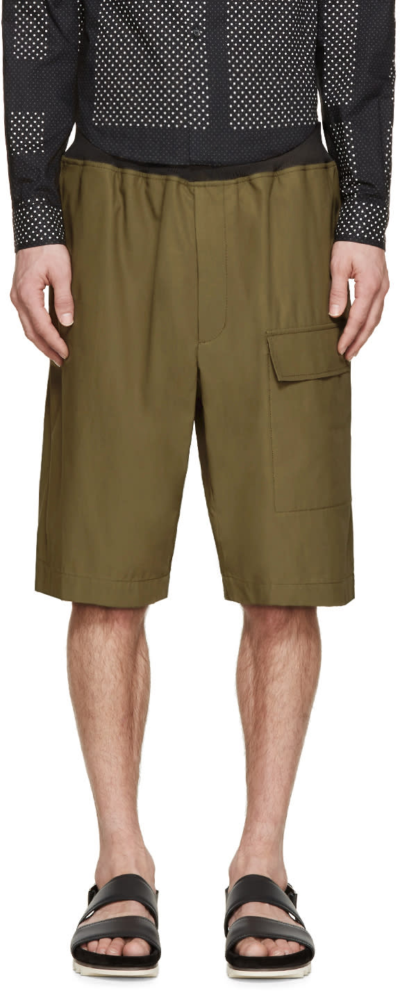 3.1 Phillip Lim Green Cargo Shorts