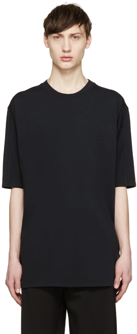 3.1 Phillip Lim Black Dropped Shoulder T-shirt