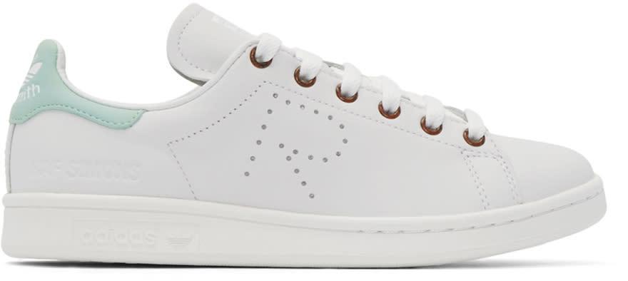 Raf Simons White and Green Stan Smith Adidas By Raf Simons Sneakers
