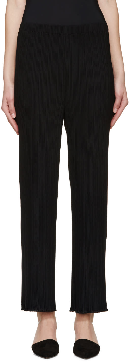 Proenza Schouler Black Pleated Trousers