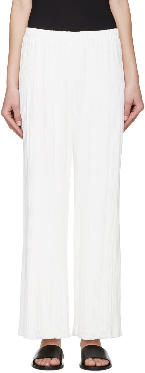 Proenza Schouler White Pleated Trousers