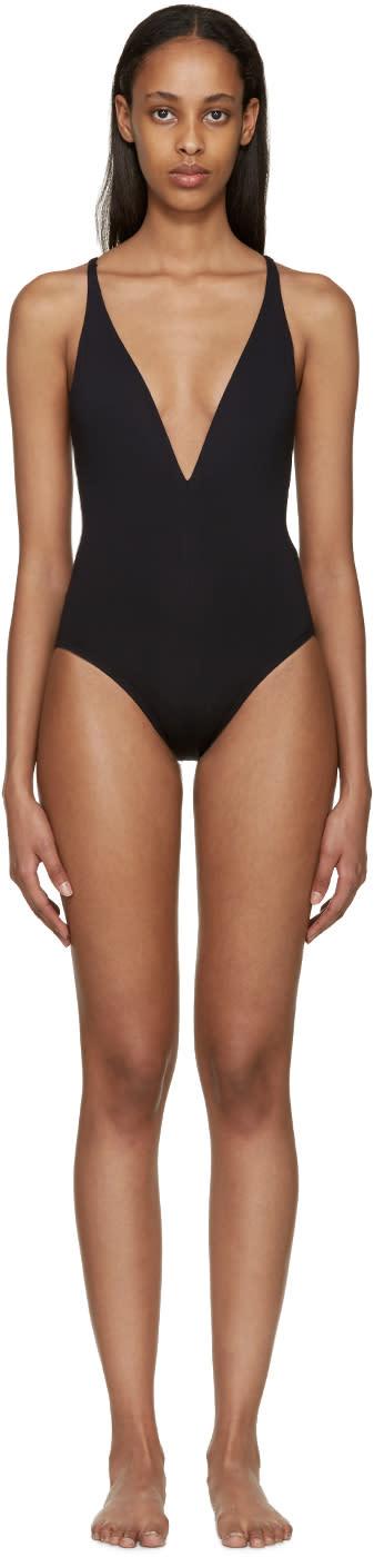 Proenza Schouler Black Deep-v Swimsuit