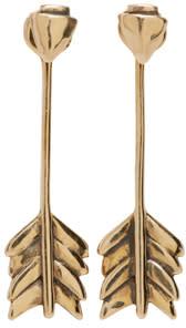 Pamela Love Brass Shooting Arrow Earrings