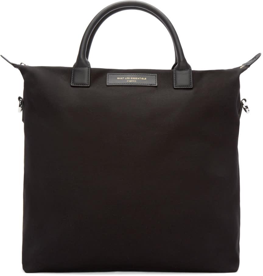 Want Les Essentiels Black Canvas Ohare Shopper Tote
