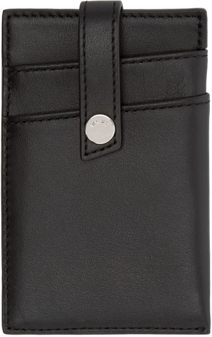 Want Les Essentiels Black Money Clip Kennedy Card Holder