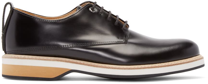 Want Les Essentiels Black Leather Montoro Derby