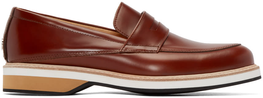 Want Les Essentiels Brown Leather Marcos Loafers