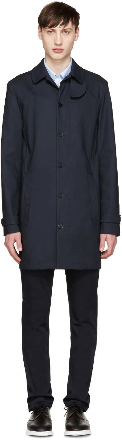 Carven Navy Trench Coat
