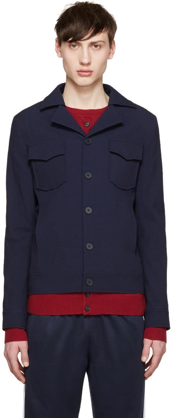 Carven Navy Seersucker Shirt