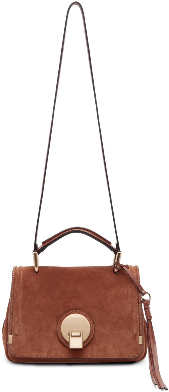 Chloe Brown Suede Small Indy Bag