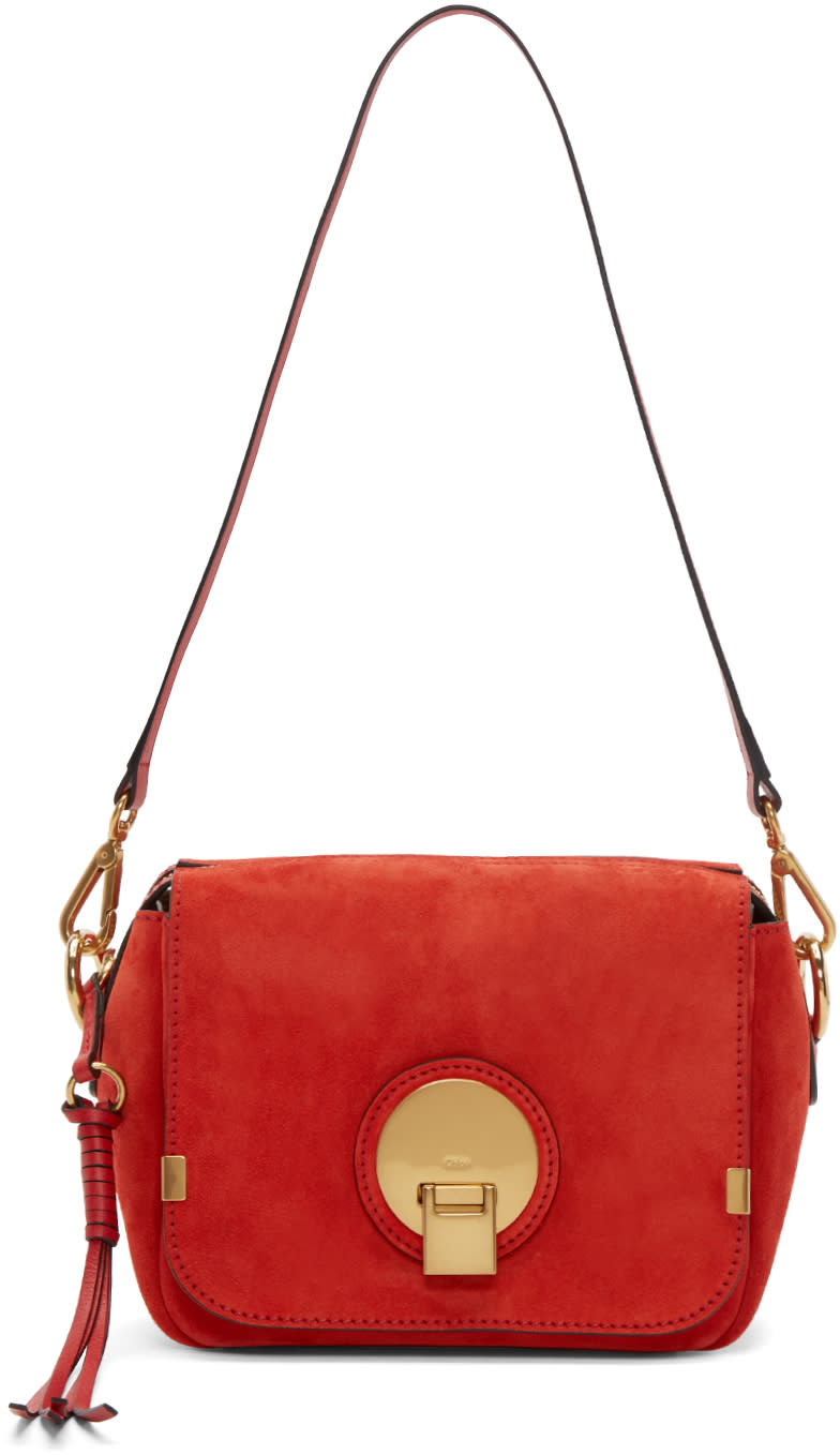 Chloe Red Suede Small Indy Bag