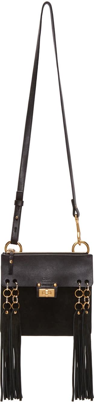 Chloe Black Fringed Mini Bracelet Bag