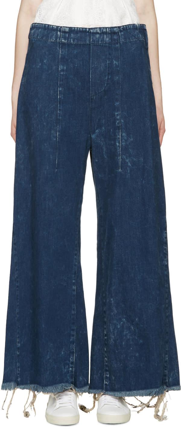 Chloe Indigo Wide-leg Jeans