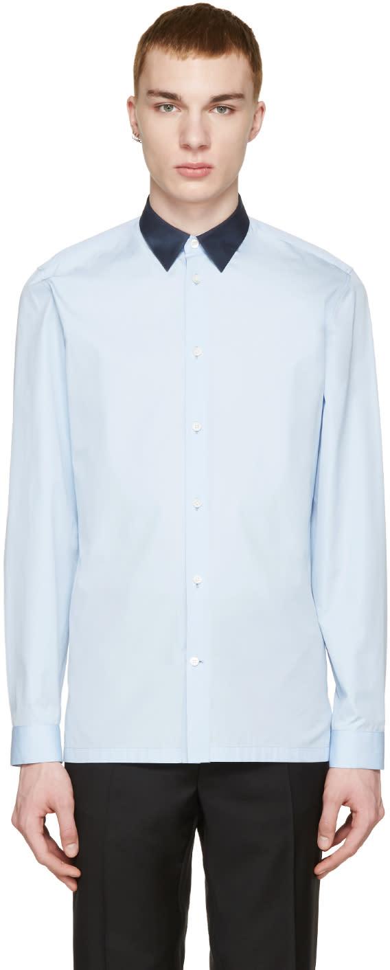 Balenciaga Blue Shadow Collar Shirt
