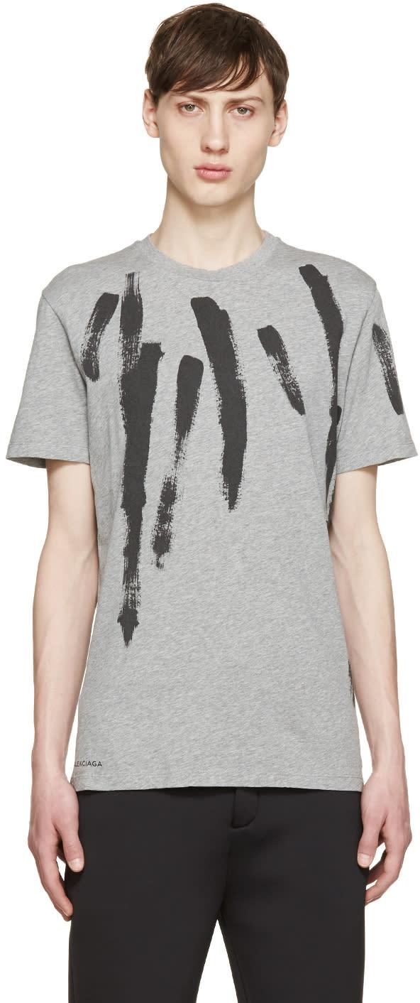 Balenciaga Grey Paint Stroke T-shirt