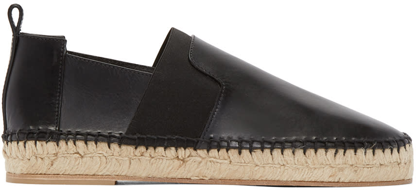 Balenciaga Black Leather and Suede Espadrilles