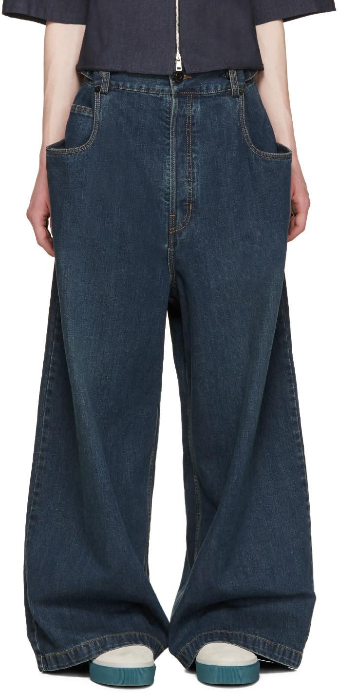 Juun.j Indigo Wide-leg Jeans