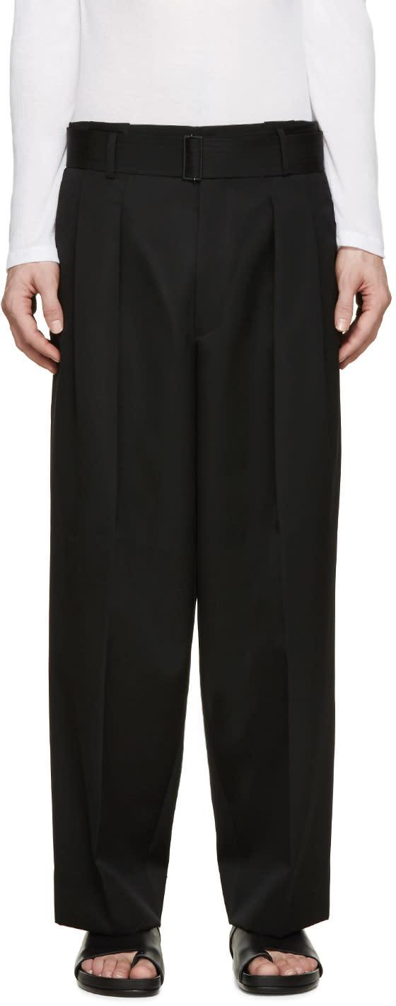 Juun.j Black Belted Wide-leg Trousers