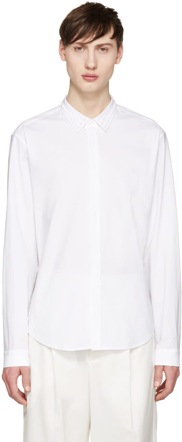 Juun.j White Studded Collar Shirt