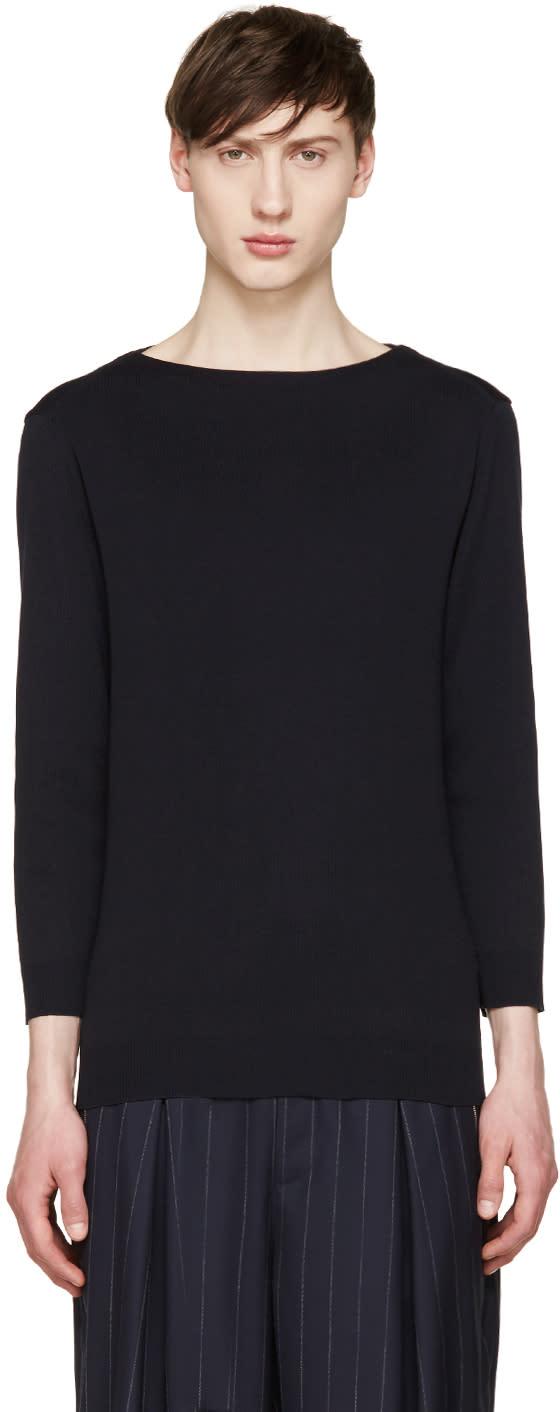 Juun.j Navy Boatneck Sweater