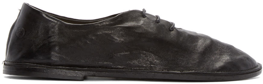 Marsèll Black Leather Strasacco Oxfords