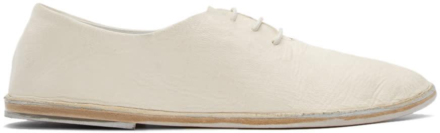 Marsèll Cream Leather Strasacco Oxfords