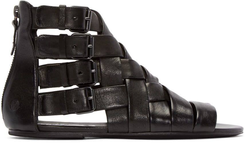 Marsell Black Braided Gladiator Arsella Sandals