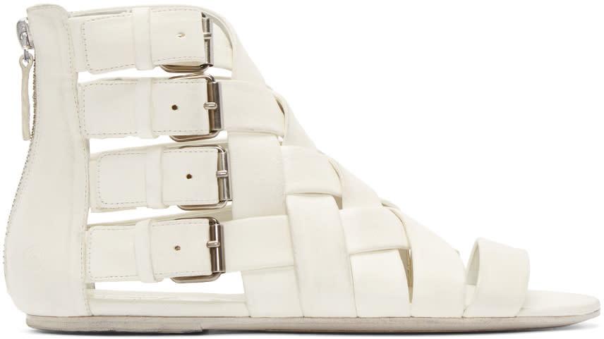 Marsell White Braided Gladiator Arsella Sandals