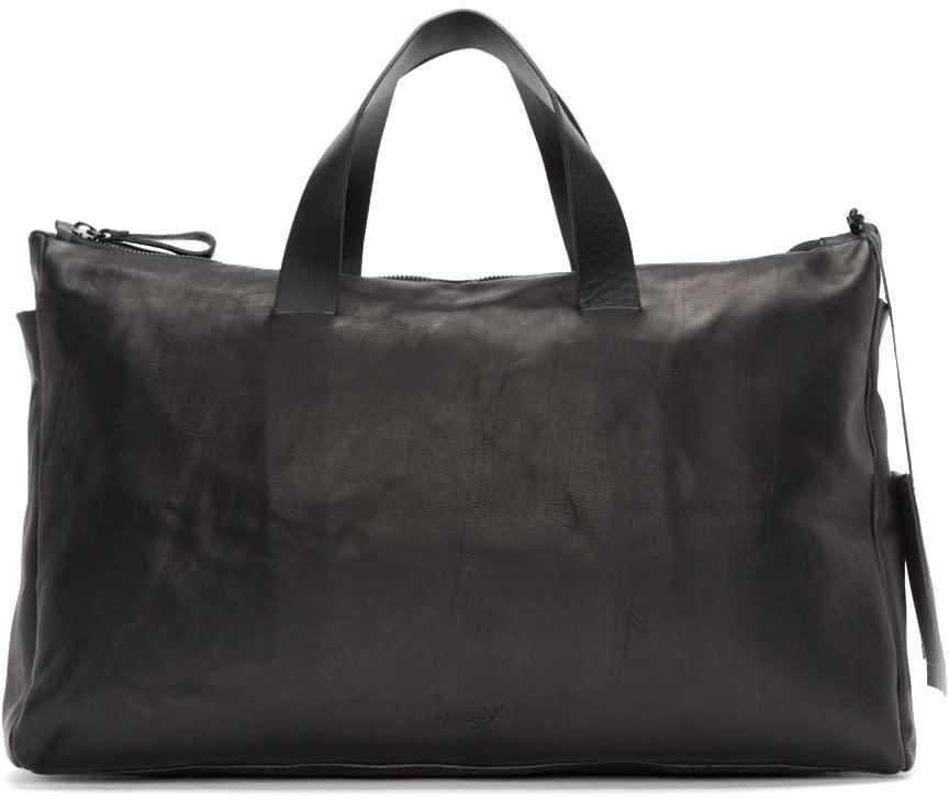 Marsèll Black Leather Monouso Duffle Bag