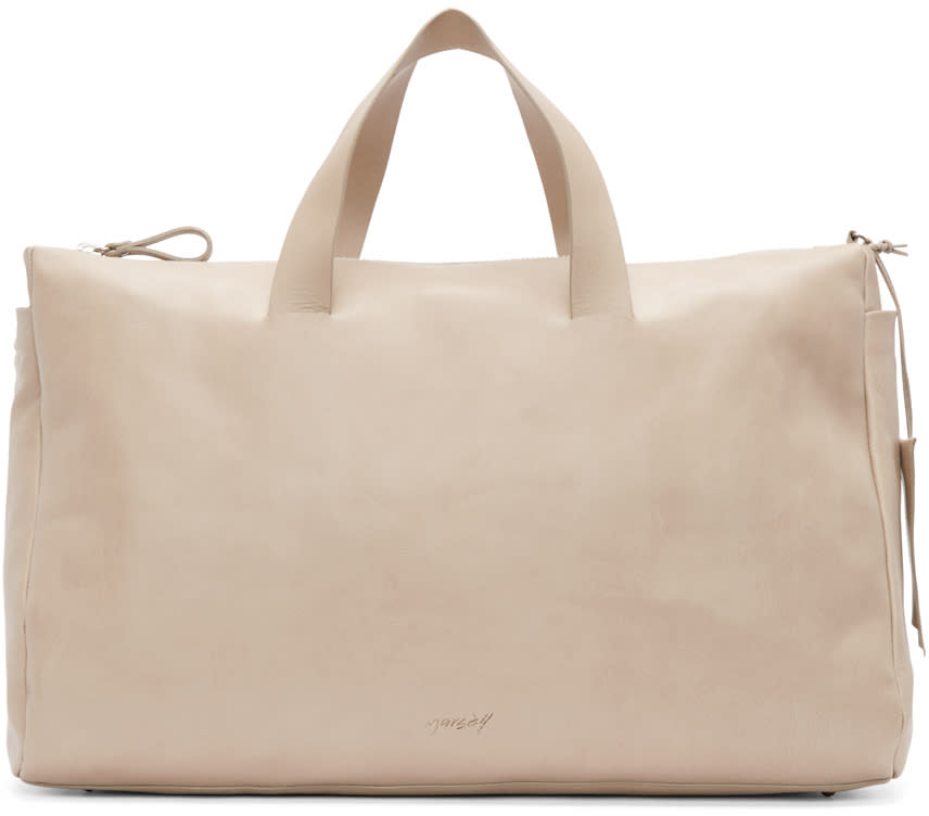 Marsèll Taupe Leather Monouso Duffle Bag