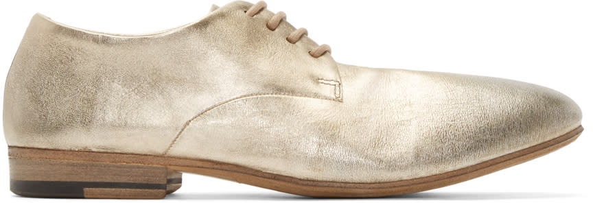 Marsèll Gold Leather Sassello Derbys