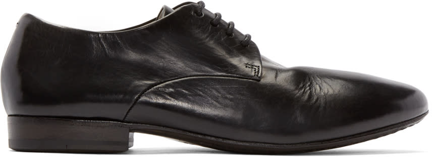 Marsèll Black Leather Sassello Derbys