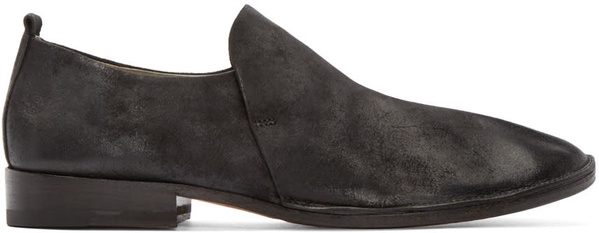 Marsell Black Suede Marsacco Loafers