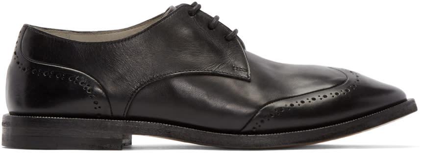 Marsell Black Leather Stiro Brogues