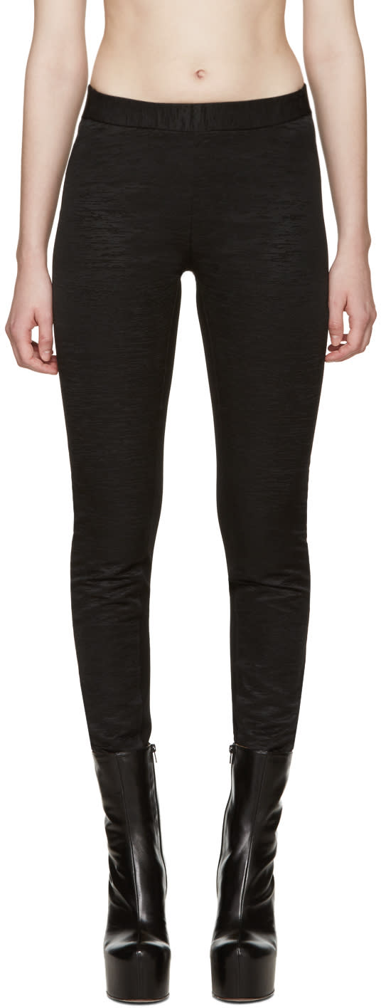 Gareth Pugh Black Textured Leggings