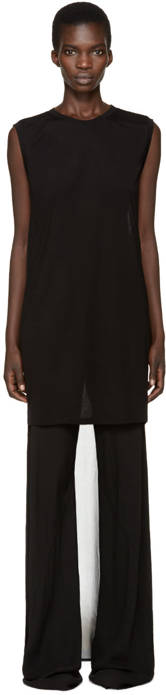 Gareth Pugh Black Droptail T-shirt