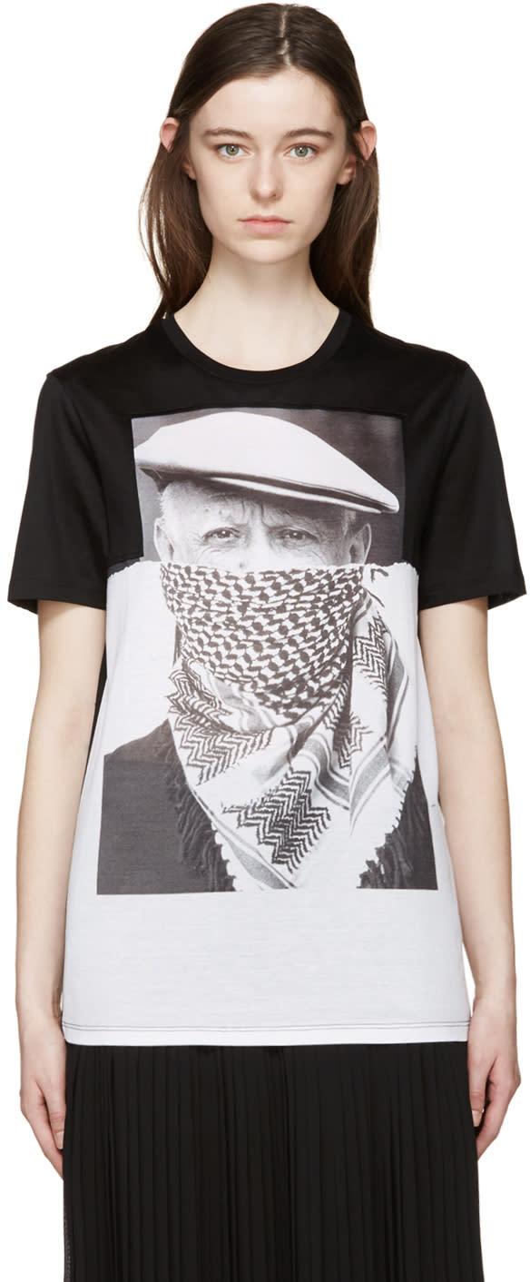 Neil Barrett Black and White Picasso T-shirt
